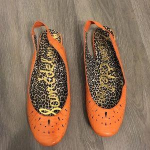 Sam Edelman Colette Sling Back Ballet Flats Orange